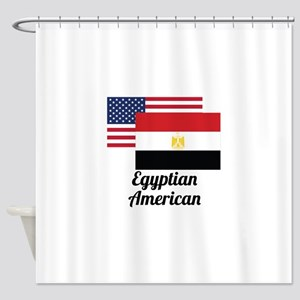 American And Egyptian Flag Shower Curtain