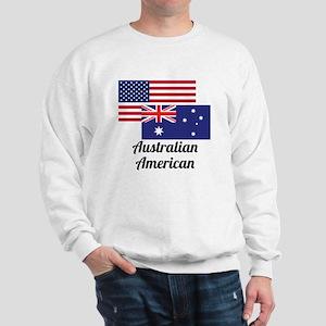 American And Australian Flag Sweatshirt