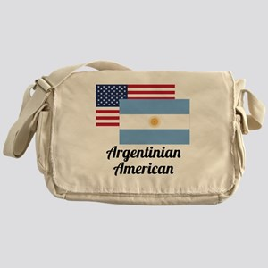 American And Argentinian Flag Messenger Bag