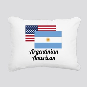 American And Argentinian Flag Rectangular Canvas P