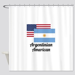 American And Argentinian Flag Shower Curtain