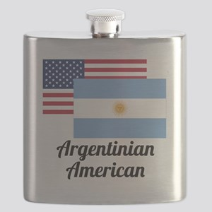 American And Argentinian Flag Flask