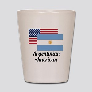American And Argentinian Flag Shot Glass