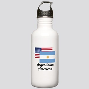 American And Argentinian Flag Water Bottle