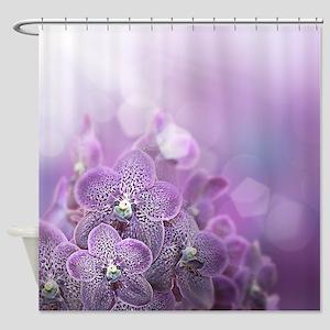 Misty Lavender Orchids Shower Curtain