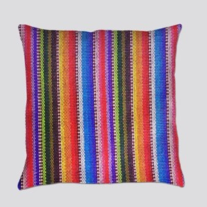 Mexican Fabric pattern Everyday Pillow