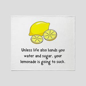 Lemonade Suck 2 Throw Blanket