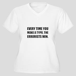 Typo Errorists 2 Plus Size T-Shirt