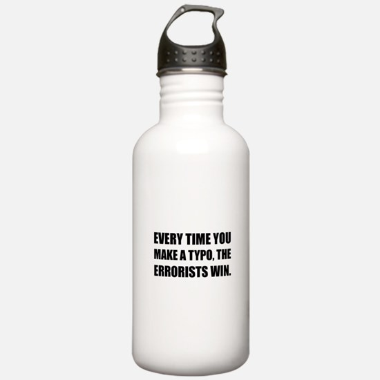 Typo Errorists 2 Water Bottle