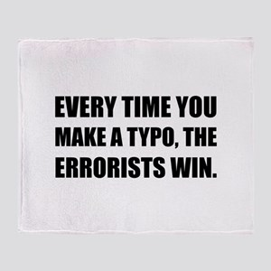 Typo Errorists 2 Throw Blanket