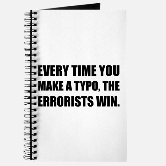 Typo Errorists 2 Journal