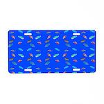Scatter Wrasses pattern on blue Aluminum License P