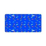 Scatter Wrasses pattern on blue Aluminum License P