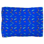 Scatter Wrasses pattern on blue Pillow Sham