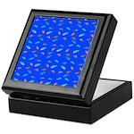 Scatter Wrasses pattern on blue Keepsake Box