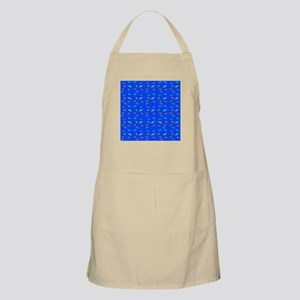 Scatter Wrasses pattern on blue Apron