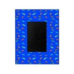 Scatter Wrasses pattern on blue Picture Frame