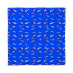 Scatter Wrasses pattern on blue Queen Duvet
