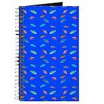 Scatter Wrasses pattern on blue Journal