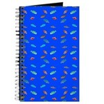 Scatter Wrasses pattern on blue Journal