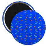 Scatter Wrasses pattern on blue Magnets