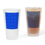 Scatter Wrasses pattern on blue Drinking Glass