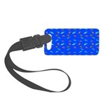 Scatter Wrasses pattern on blue Luggage Tag