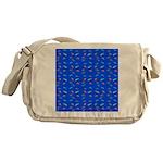 Scatter Wrasses pattern on blue Messenger Bag