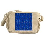 Scatter Wrasses pattern on blue Messenger Bag