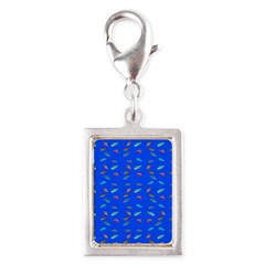 Scatter Wrasses pattern on blue Charms