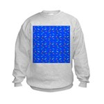 Scatter Wrasses pattern on blue Sweatshirt