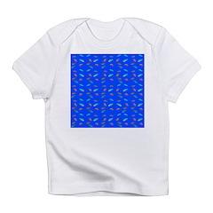 Scatter Wrasses pattern on blue Infant T-Shirt
