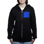 Scatter Wrasses pattern on blue Women's Zip Hoodie