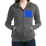 Scatter Wrasses pattern on blue Women's Zip Hoodie