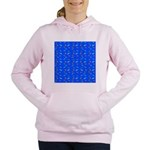 Scatter Wrasses pattern on blue Women's Hooded Swe