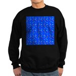 Scatter Wrasses pattern on blue Sweatshirt