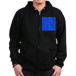 Scatter Wrasses pattern on blue Zip Hoodie