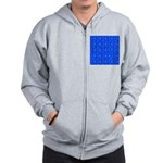 Scatter Wrasses pattern on blue Zip Hoodie