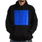 Scatter Wrasses pattern on blue Hoodie