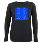 Scatter Wrasses pattern on blue Plus Size Long Sle