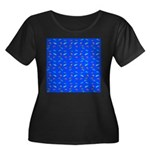 Scatter Wrasses pattern on blue Plus Size T-Shirt