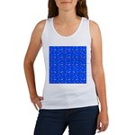 Scatter Wrasses pattern on blue Tank Top