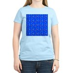 Scatter Wrasses pattern on blue T-Shirt