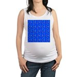 Scatter Wrasses pattern on blue Maternity Tank Top