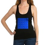 Scatter Wrasses pattern on blue Racerback Tank Top
