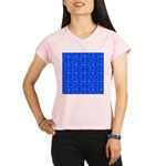 Scatter Wrasses pattern on blue Performance Dry T-