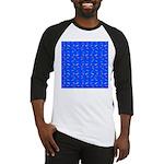 Scatter Wrasses pattern on blue Baseball Jersey