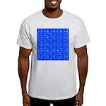 Scatter Wrasses pattern on blue T-Shirt