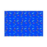 Scatter Wrasses pattern on blue Posters