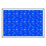 Scatter Wrasses pattern on blue Banner